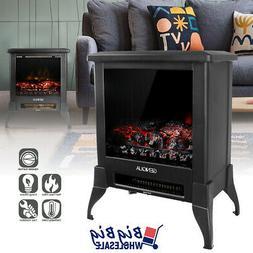 "1400W 14"" Freestanding Modern Electric Fireplace Heater Stov"