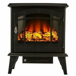"""1400W 20"""" Freestanding Electric Fireplace Heater Stove LED F"""
