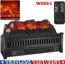 """1400W 23"""" Electric Fireplace Log Heater Realistic Flame Hear"""
