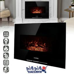 """1400W 26"""" Wall Mount Electric Fireplace Heater Adjustable 3D"""