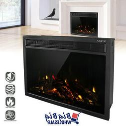 "1400W 30"" Electric Fireplace Heater Wall Insert Freestanding"