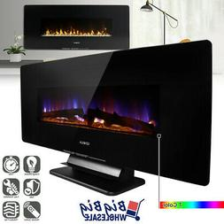 """1400W 42"""" Wall Mount/Free Standing Electric Fireplace Heater"""