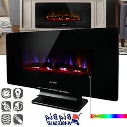 """1400W Adjustable 36"""" Wall Mount/Standing Electric Fireplace"""