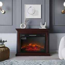 1400W Electric Firebox Fireplace Infrared Quartz Heater Flam