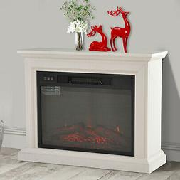 1400W Freestanding Electric Fireplace Wood Full Frame Stove