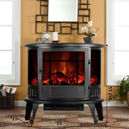 """1500W 23"""" Adjust Electric Fireplace Free Standing Heater Woo"""