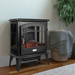 3 Sided 1500W Adjust Electric Fireplace Free Standing Heater
