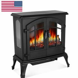 1500w electric fireplace heater freestanding stove