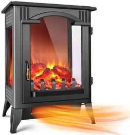 1500W Electric Fireplace Infrared Space Heater with 3D Flame