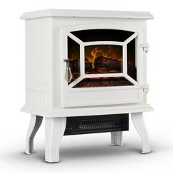 """17"""" Electric Infrared Fireplace Stove Heater with 3D Flame E"""