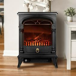"""VIVOHOME 20"""" Electric Fireplace Space Heater Fire Wood 3D Fl"""