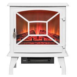 AKDY20 in. Freestanding Electric Fireplace Mantel Heater in
