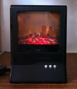 20 inch Electric Fireplace Portable Room Heater LED Burning