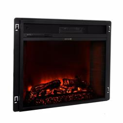 """23"""" Electric Fireplace Heater Insert flat Glass Panel with R"""