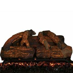 "Modern Flames 26"" Inch Electric Fireplace Log Set Oak Wood S"