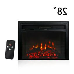 "28"" 750W/1500W Recessed Electric Fireplace Wall Mount Heater"