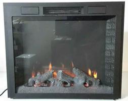 32″ Infrared Electric Log Burning Fireplace Insert Firebox