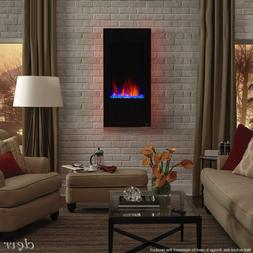 "Clevr 32"" Vertical Wall Mount Electric Fireplace Heater w/ B"
