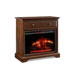 32'' Window Pane TV Stand With Electric Fireplace