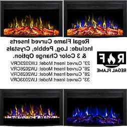 Regal Flame33 Inch Curved Ventless Heater Electric Fireplace