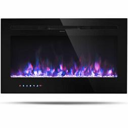 """36 """" Electric Fireplace Recessed and Wall Mounted 750W/1500W"""