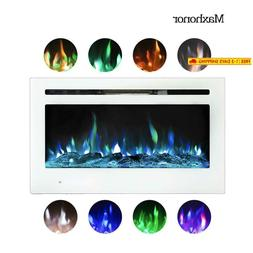 Maxhonor 36 Inches Electric Fireplace Insert Wall Mounted Wi