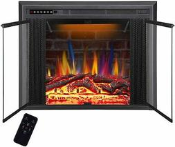 """36"""" Recessed Electric Fireplace Insert, Traditional Electric"""