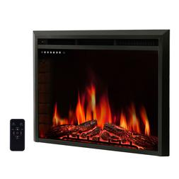 R.W.FLAME 36 inch Recessed Electric Fireplace Insert,Remote