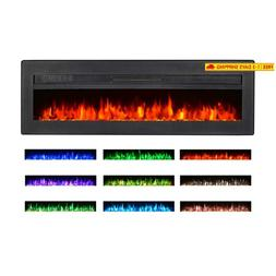 Maxhonor 40 Inches Electric Fireplace Insert Wall Mounted Fr