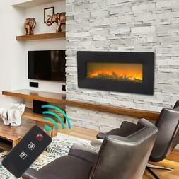 """Zokop 42"""" Electric Fireplace Heater Recessed and Wall Mounte"""