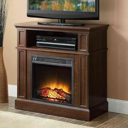 42 inch TV Stand With Fireplace Media Console Electric Enter