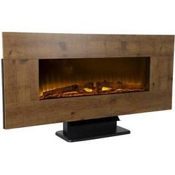 "42"" Wall Mount Electric Fireplace with Reversible Frame, Rus"