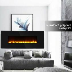 """42"""" Wall Mounted Electric Fireplace Heater Multicoloured Fla"""