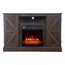 """47"""" TV Stand Electric Fireplace Mantel Storage Cabinet Conso"""