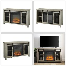 48 Inch TV Stand With Fireplace Media Console Electric Enter