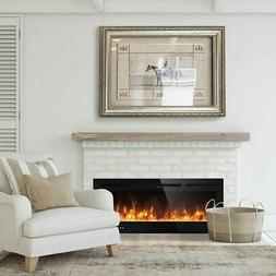"""50"""" Electric Fireplace Recessed Ultra Thin Wall Mounted Heat"""