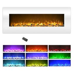 Northwest  50 in. Electric Fireplace Wall Mounted Color Chan