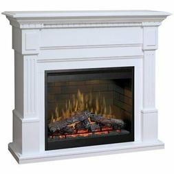 "Bowery Hill 55"" Electric Fireplace Mantel in White"