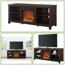60 In Flat Screen TV Stand Console Electric Fireplace Entert
