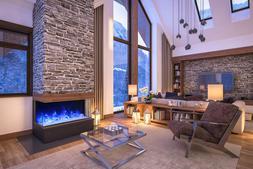 Amantii 60-TRU-VIEW-XL – 3 Sided Electric Fireplace Multi