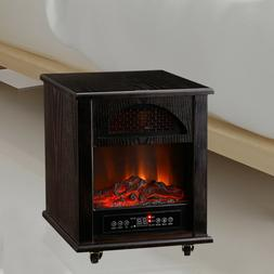 1500W Electric Fireplace Freestanding Fire Flame Stove Heate