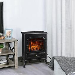 750W /1500W Adjust Electric Fireplace Free Standing Heater W