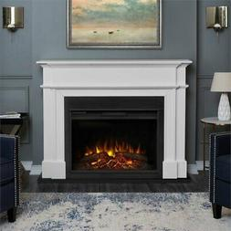 Real Flame 8060E Harlan Grand Electric Fireplace in White, L
