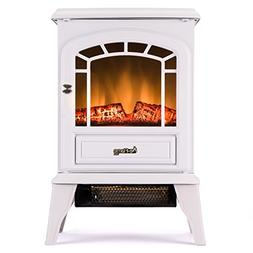 Aspen Free Standing Electric Fireplace Stove - 22 Inch Porta