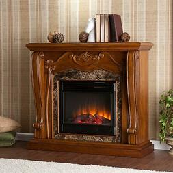 SEI Southern Enterprises Cardona Electric Fireplace, Walnut