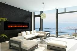 """MODERN FLAMES AMBIANCE 100"""" CLX 2 ELECTRIC RECESSED/WALL MOU"""