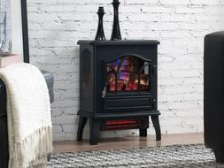 Black Electric Fireplace Duraflame 3D Adjustable Thermostat
