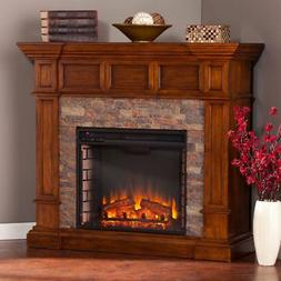Northwest 42-Inch LED Fire and Ice Electric Fireplace with R