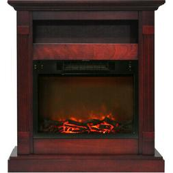 Cambridge CAM3437-1CHR Sienna 34 In. Electric Fireplace w/ 1