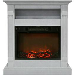 Cambridge CAM3437-1WHT Sienna 34 In. Electric Fireplace w/ 1